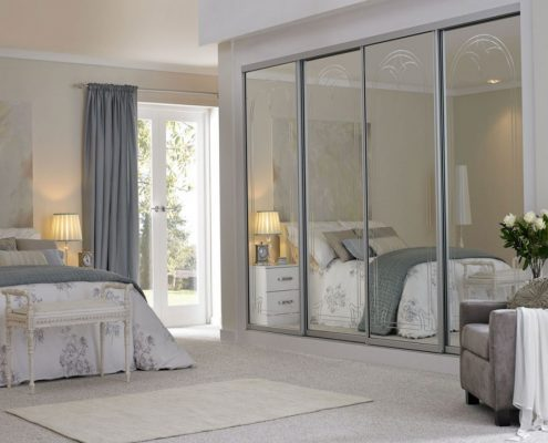 Mirrored sliding wardrobe doors Perth - Exclusive Wall Design