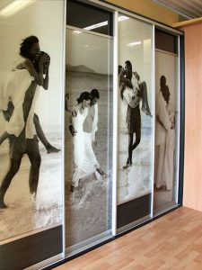 Personalised sliding wardrobe doors Perth - Exclusive Wall Design