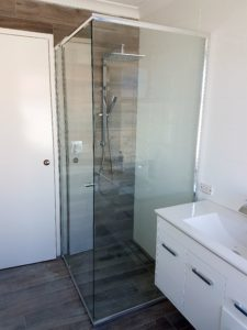 Semi-frameless shower screens Perth - Exclusive Wall Design