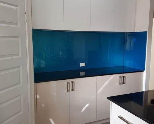 Blue Glass Splashback Perth - Exclusive Wall Design